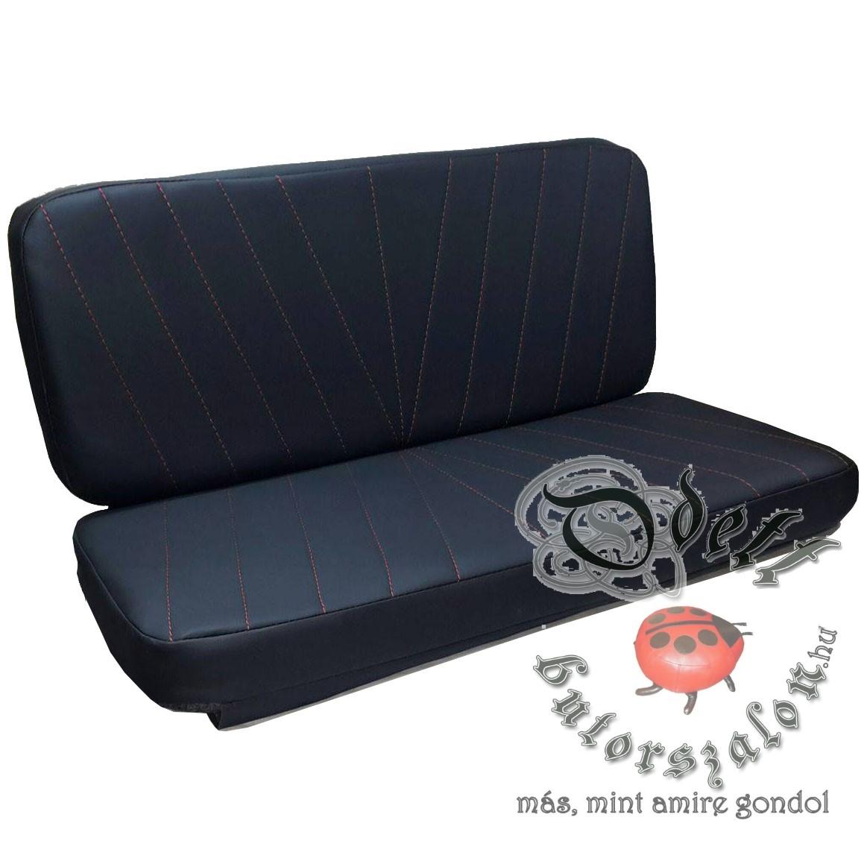 E MTZ50műbőr fekete-pirostűz3+LOGO vj