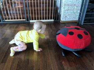 katica puff  & a 8 hónapos baba