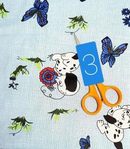 3 kék kiskutyás
