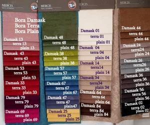 Bora Damask számokkal